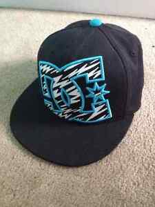 "DC black zebra 210 Fitted 6 7/8 - 7 1/4 "" hat $10 (new)"
