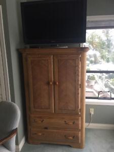 5 piece golden oak bedroom suite