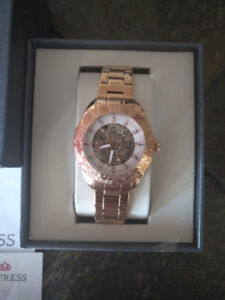 NEW Empress EM1103 Women's Automatic Jeweled Rose Gold Watch