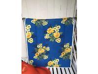 Vintage retro flower 70s 80s Sun lounger garden furniture VGC British