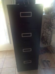 Black filing cabinet - EXCELLENT shape.