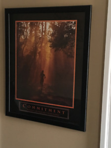 Framed Running picture - Commitment