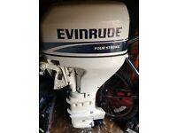Evinrude Johnson 15 hp outboard boat engine electric start and system check longshaft