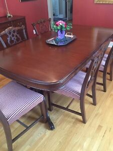 Desirable antique dining room set