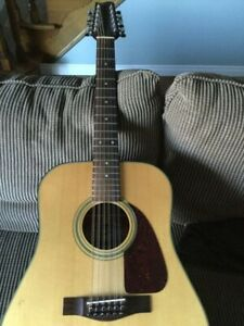 Fender F-310 12 String Acoustic Guitar Vintage 80's
