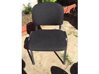 17 x Black Stacking Meeting Chairs (No Arms)