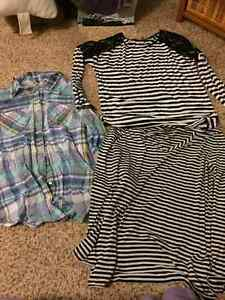L/XL maternity clothes lot