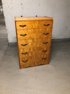 5 drawer wood dresser,45 inches high,30 wide 19 deep