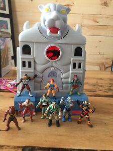 Thundercats Thunder cats cats Lair 9 mini figures vintage