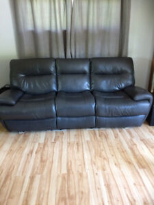 Leather Recliner Sofa & Chair