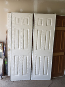 48 inch wide; sliding closet two panel doors