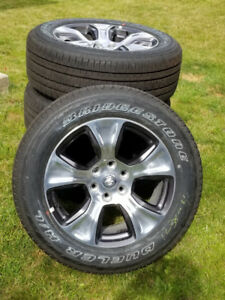 BRAND NEW 2019 DODGE RAM 1500 20 Inch WHLS & BRIDGESTONE TIRES
