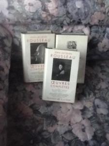 3 VOLUMES de ROUSSEAU dans LA PLEIADE