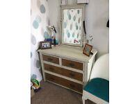 Vintage dressing table & drawers.