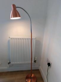 COPPER METAL FLOOR STANDING LAMP NEW