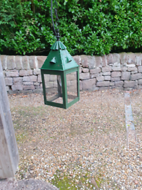Antique brass Victorian hanging lamp/light/lantern porch hallway