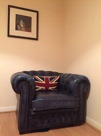 Blue Chesterfield Club Chair