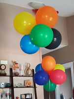 Long lasting helium latex and mylar balloons for all occasions!