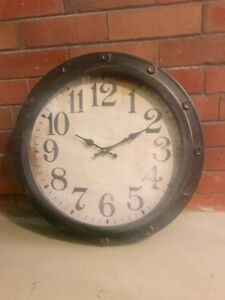 Large Rustic Wall Clock- Perfect Condition!
