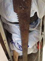Antique ice saw. Cross cut, meat, wood