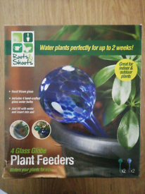 Roots & Shoots 4 glass globe plant feeders