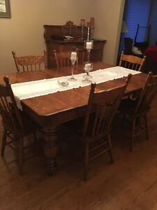Antique Dining room table and buffet