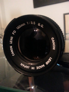 Canon FD Lenses 135mm,Sigma Mini-wide11, 28-80mm,80-200mm.