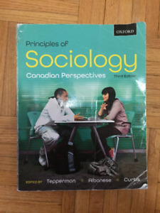 Principles of Sociology Canadian Perspectives Third Edition