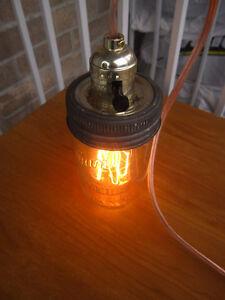 Vintage style old jar with Edison bulb and few jars Gatineau Ottawa / Gatineau Area image 8