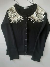 Valleygirl black sequin Cardigan S - M