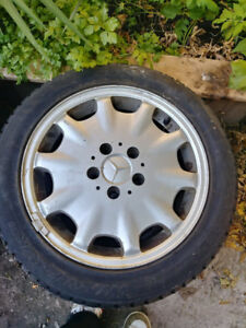 4 Mercedes-Benz B200 Winter Tire With Rim Size 205/55/16