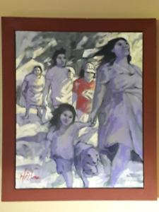 Original painting by Halin de Repentigny