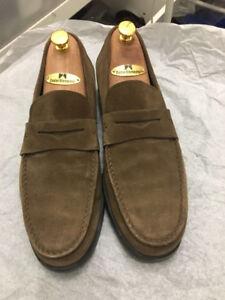 Santoni Penny Loafer dress shoes US8.5 (like US9)
