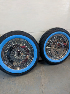 Chrome wheel package for Harley Touring 2000-2007