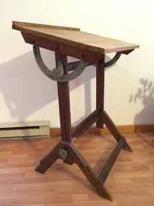 Antique Solid Wood Drafting Table