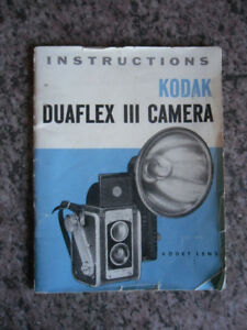 Kodak Duaflex III instruction manual