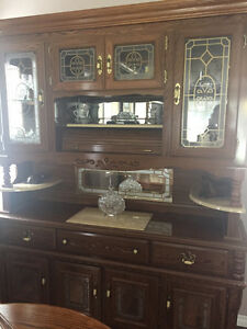 Honey Oak Hutch