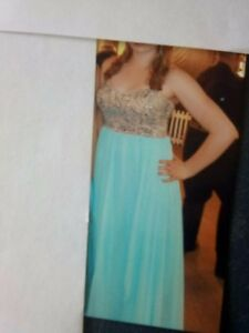 Strapless dress, size 12, floor length, worn once
