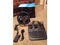 Boxed Logitech G29 steering wheel and pedal for PlayStation 4/3 and PC . Excellent condition