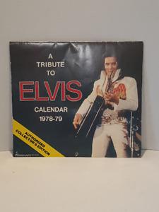 Calendrier Elvis Presley 1978-79 pour collectionneur à 20 $.