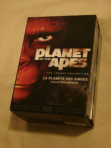 PLANET of THE APES 6 disc Box Set Legacy Collection (RARE)