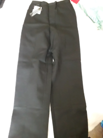 Boys black trousers age 12 new