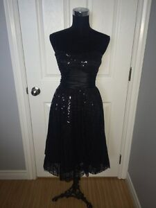 Black Sequinned Dress. Size small