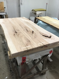 Live edge counter tops, tables and more.