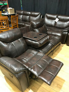 recliner couch and love seat and chair