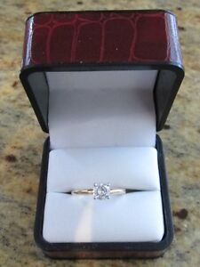 BEAUTIFUL Solitaire Diamond Engagement Ring - .63 carat