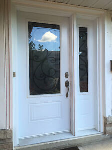 **Front Entrance Door With Wrought Iron Glass. Priced to Sell!