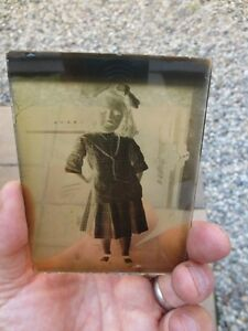 Lot of early 20th century glass negative slides, frames, viewer