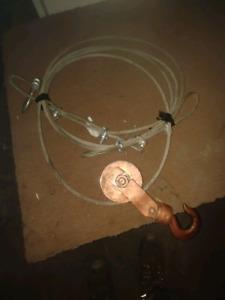 Poulie & câble 5 tonnes pour remorquage