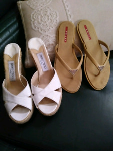 Authentic Jimmy Choo and Prada shoes